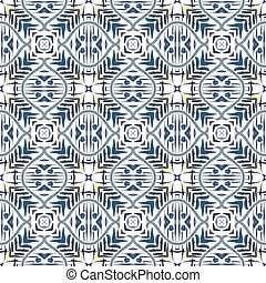 slagen, abstract, pattern., seamless, watercolor verf, borstel, achtergrond, geometrisch, kaleidoscope., stain.