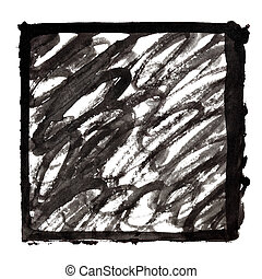 slagen, doodle, frame, zwarte inkt