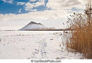 Slagheap winter in the snow