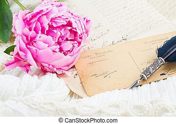 slagpen balpen, en, antieke , brieven