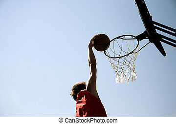 slam-dunk - basketball concept, special toned photo f/x,...