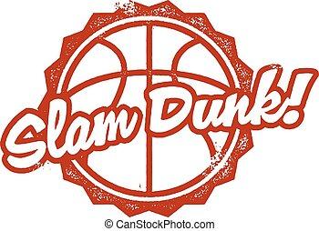 Slam Dunk Basketball Stamp