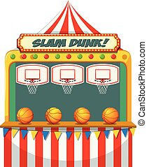 Slam dunk carnival stall illustration