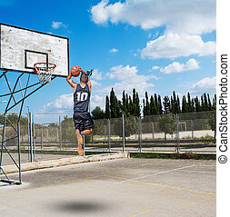 slam dunk in a playground