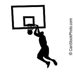 Slam dunk silhouette