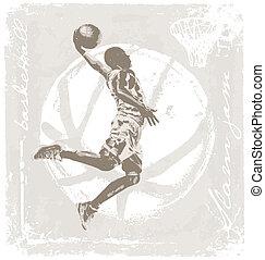 slam jam basket ball - basketball vector illustration for...