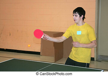 slamming away - taken ay a table tennis tournament