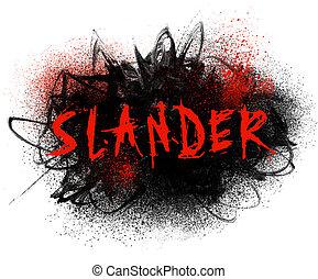 Slander Typography Illustration