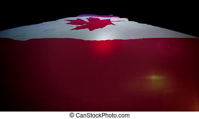 """Slanted Canadian Banner Moving Up"" - ""Amazing 3d rendering..."