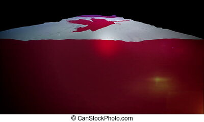 """Slanted Canadian Flag in Slow Motion"" - ""Patriotic slow..."
