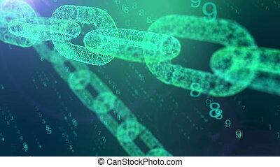 """Slanting chain stands against a programmed matrix"" - ""A..."
