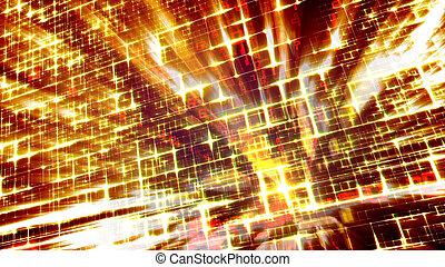 Slanting Pan of Sparkling Golden Construction