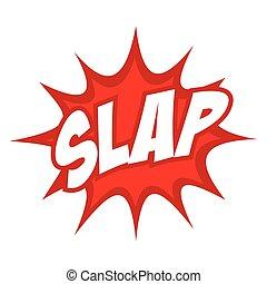 Slap Splash Icon - Slap text in comic splash icon