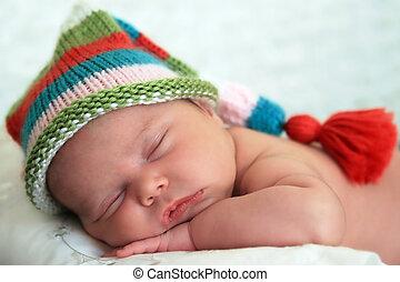 slapende, baby