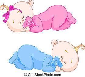 slapende, baby's