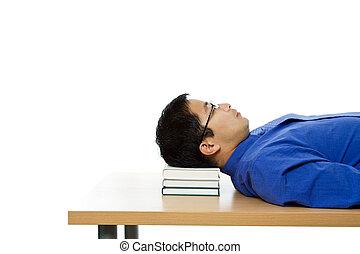 slapende, zakenman
