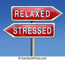 slapp, eller, stress