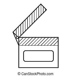 Slapstick icon, outline style