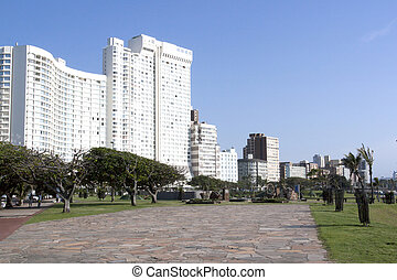Slasto Walkway Outside Hotels on Durban's Golden Mile -...