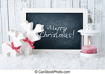 Slate board with Christmas decoration