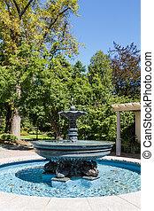Slate Fountain in Public Garden
