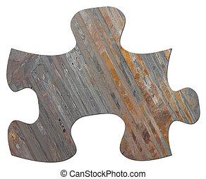 Slate Jigsaw Puzzle Piece