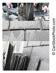 Slate roof mosaic