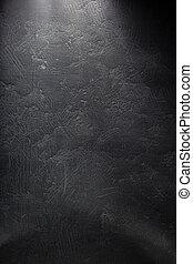 slate sign on black