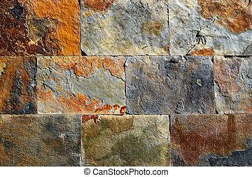 Slate stone colorful texture tiles