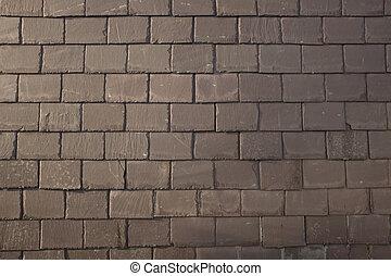 Slate wall.