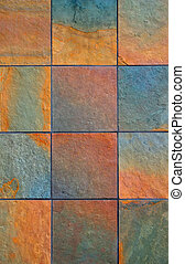 background of colorful slate stones vertical