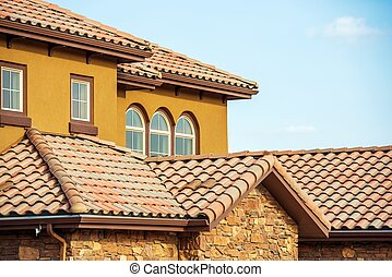 Slates Roof. Home Roof - Slates Roof. Modern American South...