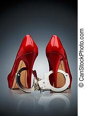 slave., /, sko, dagligen, synda