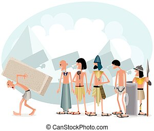 Slaves and masters - Vector illustration of a slaves and...