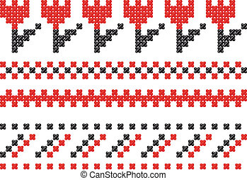 Slavic embroidery.