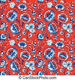 Slavic floral seamless pattern