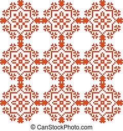 Slavic geometrical ornament. Seamless pattern.