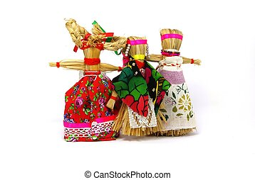 Slavic holiday carnival dolls