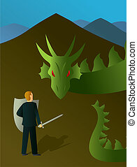 Slaying the Dragon - An illustration of the common American...