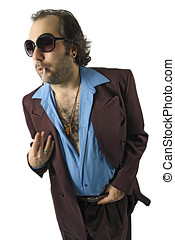 Sleazy guy with sunglasses - A sleazy guy, car salesman, Con...