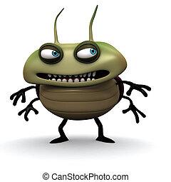 slecht, groen insect