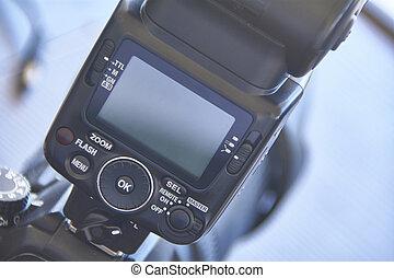 Sled flash for SLR camera