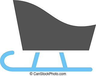 Sled, sledding, snow icon vector image. Can also be used for winter. Suitable for use on web apps, mobile apps and print media.