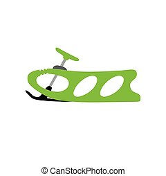 Sled. Winter. Hand drawn vector baby sled