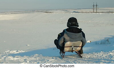 Sledding On Snow