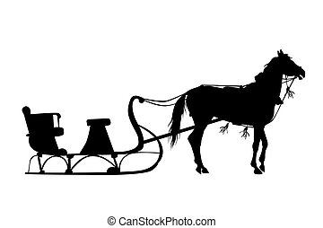 100 horse sleigh illustrations and clip art rh canstockphoto com horse and sleigh clipart free Christmas Horse-Drawn Sleigh Clip Art