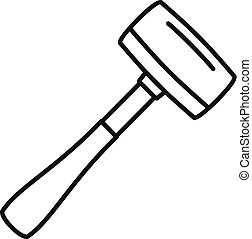 Sledge hammer icon, outline style