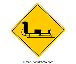 Sledge warning sign