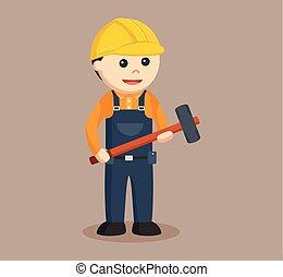 sledgehammer, 建築作業員