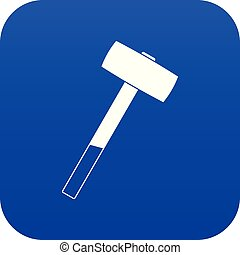 Sledgehammer icon digital blue for any design isolated on...